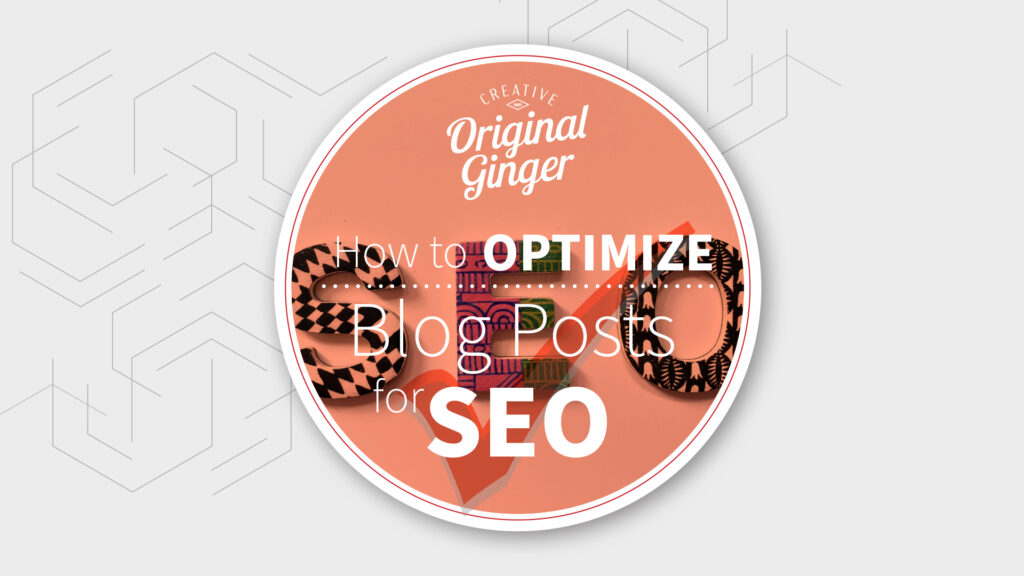 How to Optimize Blog Posts for SEO Image