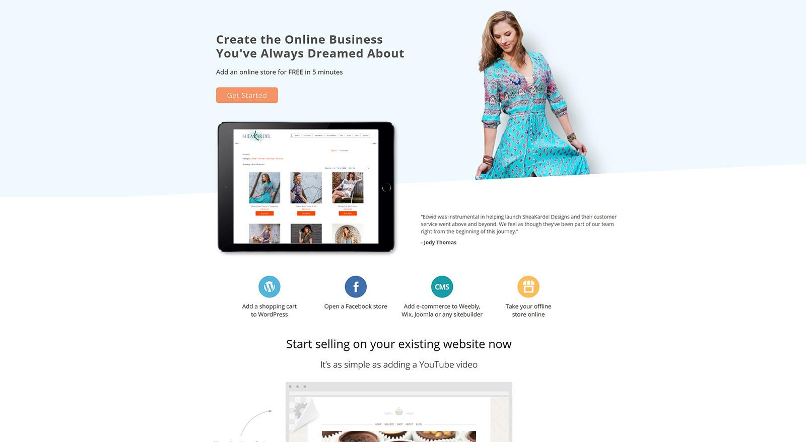 Ecwid Shopping Cart Integration for Online Sales | Surrey Web Design by Original Ginger