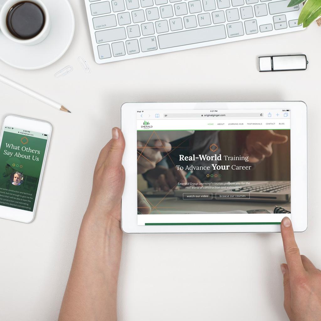 Emerald Learning Branding & Web Design Case Study | Original Ginger