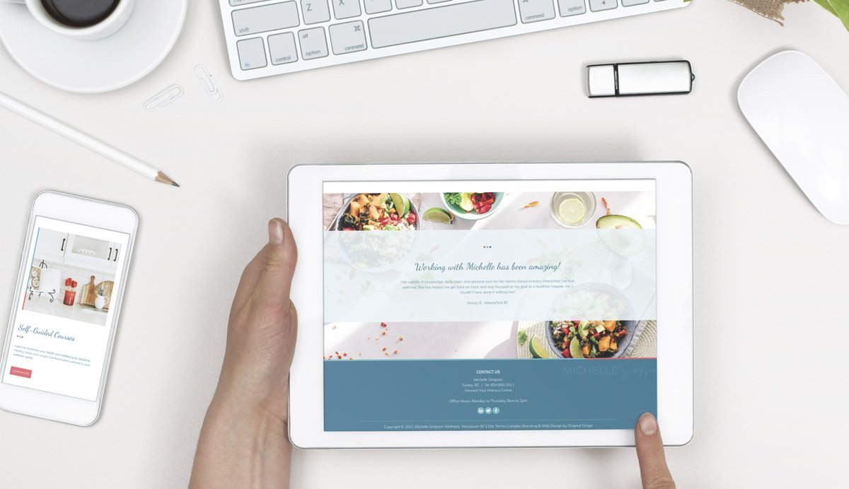 Surrey Custom Website Design | Case Study for Michelle Simpson