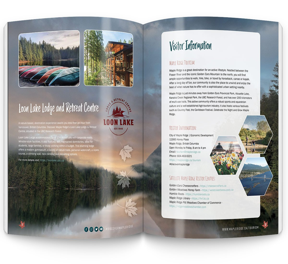 City of Maple Ridge Design and Brand Messaging for Visitor's Guide